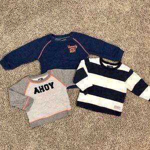 3 OshKosh boys sweatshirts